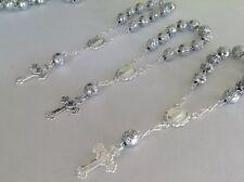 80 Pc Mini Rosary SILVER /Baptism Favor/ Decenario/ Recuerditos /communion Favor