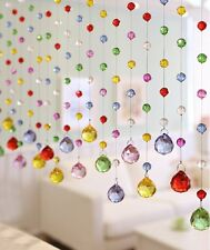 5Pcs 1ft Multicolored Crystal Ball Pendant Chandelier Prisms Wedding, Baby Room
