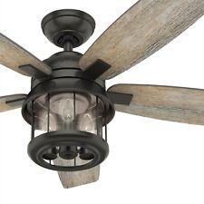 Hunter Fan 52 inch Outdoor Noble Bronze Ceiling Fan w/ Led lights & Remote