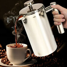 Double wall Stainless Steel Coffee Plunger French Press Tea Maker Machine 350ml