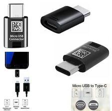 Genuine BLACK Samsung Micro USB (Female) to USB-C Type Converter Adapter (Male)