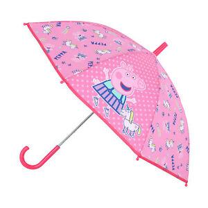 New Textiel Trade Kid's Nickelodeon Peppa Pig Stick Umbrella