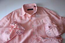 Tommy Bahama Shirt Sand Linen Check California Poppy T315948 LS New Large L