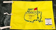 Zach Johnson signed AUGUSTA NATIONAL 2007 MASTERS Golf Flag BECKETT BAS #C25898