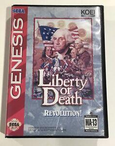 Liberty or Death Sega Genesis Case Box ONLY NO GAME NO MANUAL ORIGINAL