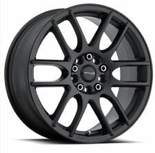 16x7 Raceline 141B-Mystique 5x112/5x120 ET40 Satin Black Rims New Set (4)