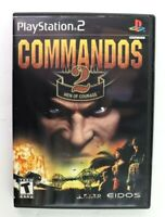 PS2 Commandos 2: Men of Courage (Sony PlayStation 2, 2002) Complete Tested