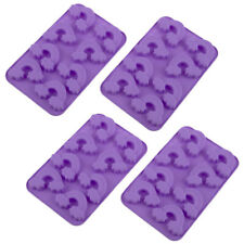2pc Daily Bake Rainbow 8 Cup Silicone Chocolate Baking Mould Jelly Set Tray Purp