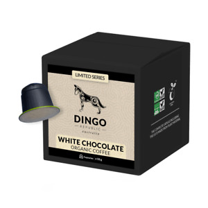 WHITE CHOCOLATE Flavoured Organic Coffee - 10 Biodegradable & Compostable Pods