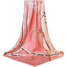 Foulard 90 X 90cm 100% Soie Equestre  Rose  Silk Scarf horse séide