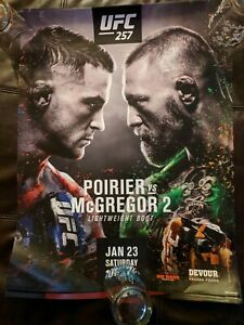UFC 257 18x24 Promotional Poster Featuring McGregor vs Poirier