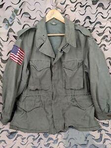 WW2 US Army M43 Field Jacket w/Airborne Invasion Flag Size 40R 82nd Airborne?