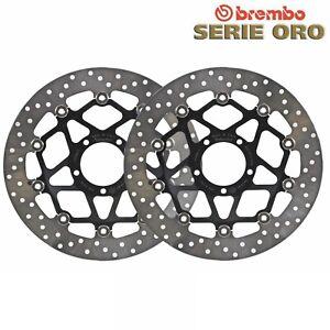 Paar Bremsscheiben Brembo Vorne Gold Ducati 848 848 2012 2013