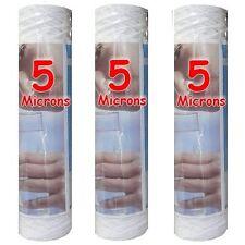 """Cartouche filtre à eau 10"""" 5 µm bobinée sédiments-particules-boue (lot de 3)"""