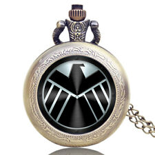 Captain America Movie Extension Shield Pendant Pocket Watch Chain Xmas Gift