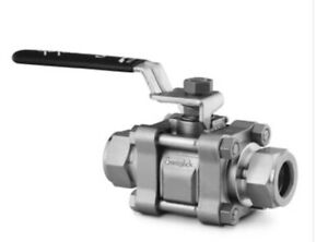 """3 Brand New in the Box Swagelok ss63ts8 1/2"""" stainless steel ball valves"""