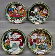 Bing & Grondahl Royal Copenhagen Santa Claus Collection: 4 Numbered Plates 6369