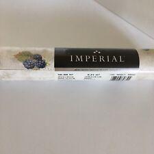 """Vtg Berry Wallpaper Vinyl Coated Wall covering Roll 20.5"""" Blackberries 174946"""