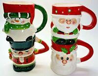 Santa Snowman Nutcracker Theme Christmas Holiday Mug By MICHAELS (SET OF 4)