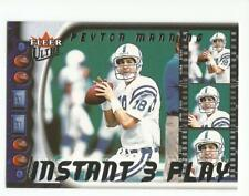 PEYTON MANNING 2000 Ultra Football Instant 3 card Play #IP1 Indianapolis Colts