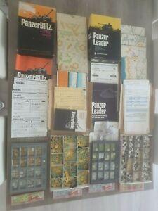 PanzerBlitz + Panzer Leader (ASL) HUGE LOT + additional counters, Avalon Hill