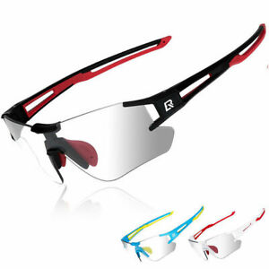 ROCKBROS Cycling Bike Photochromatic Rimless Sunglasses UV400 Goggles 3 Colors
