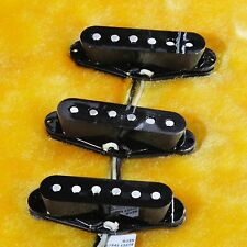 Lindy Fralin Blues Special Strat Pickup Set Black w/ Bass Plate & Free Knobs