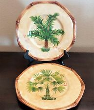 Ambiance Collections Royal Palm by Nanette Vacher Dinner Plates x2 Palm Trees