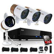ELEC HDMI 960H 8CH DVR 1500TVL Video CCTV Home Security Camera System 1TB HDD