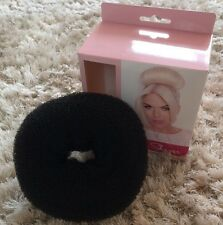 Large Big Bun Doughnut Hair Shaper Black Ring Donut Styler Updo Prom Party