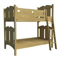 Wooden Bunk Bed w/Ladder Plans DIY Bedroom Furniture Woodworking Build Your Own