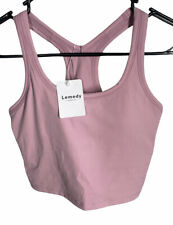NWT Women's LEMEDY Solid Pink Bra Crop Top Size 4 (Small)