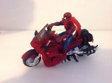 "Spider-Man: 8"" Action Figure Chopper Bike, Marvel, toy biz, Rare, en plastique"