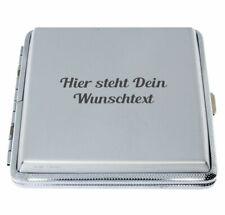 Zigarettenetui 20er silber Zigarettenbox Aluminium mit kostenloser Wunschgravur