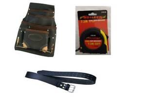 3in1 |10 Pocket Tool Bag |10 M Tape  | Leather Tools Belt | 2 Hammer Holders