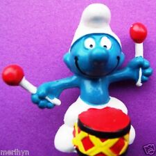 20009 Schtroumpf tambour rouge smurf puffi puffo pitufo germany   TRare