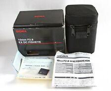 Sigma EX 10mm F2.8 DC Fisheye HSM lens  (Sigma SA mount)