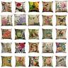 """18x18"""" Flowers Soft Decorative Cushion Cover & Sofa Pillow Case Retro Home Decor"""