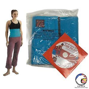 Bally Total Fitness SLIMMER BELT (Teal) w/  Pilates DVD