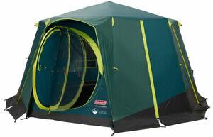 Coleman green octagon blackout 8 man glamping tent
