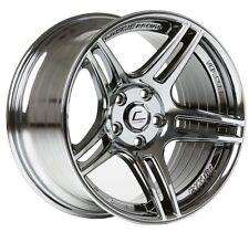 Cosmis S5R 17x10 5x114.3 +22 Black Chrome Rims Fits Accord Rsx Tsx Tsx Tiburon