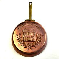Vintage Home Sweet Home Skillet Wall Hanging Mold Copper Brass Korea