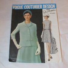 Vintage Vogue Paris Couturier Designer Pattern Jo Mattli Dress & Jacket Sz 14