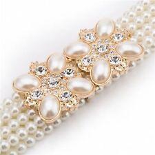 Women Belt Pearls Rhinestone Waist Luxury Fashion Dress Female Shiny Accessories