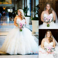 Plus Size A Line Wedding Dress Bridal Gown Custom Plus Size 18 20 22 24 26 28++