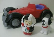 COMPLETE SET Disney Fisher Price Little People 101 DALMATIONS Cruella Car Patch