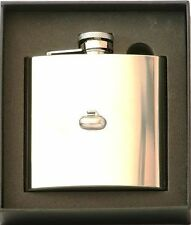 Curling Stone Stainless Steel Hip Flask Gift Boxed FREE ENGRAVING