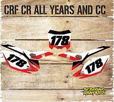 HONDA CRF/CR 85 125 150 250 450 BACKGROUND GRAPHICS-NUMBER BOARD STICKER-PHONEX