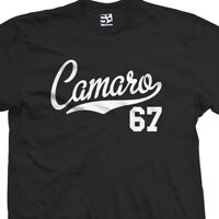 Camaro 67 Script Tail Shirt - 1967 Classic Muscle Race Car - All Size & Colors