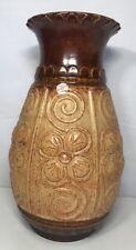 Grand Vase Rétro Vintage Uebelacker Keramik Germany H 40 D 22 Cm Voir Photos